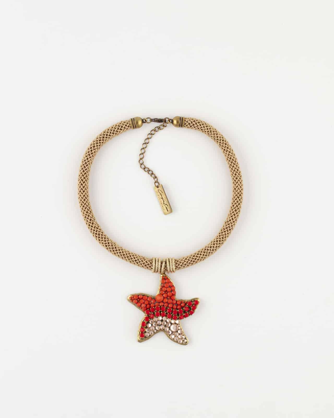 Collana con pendente stella marina