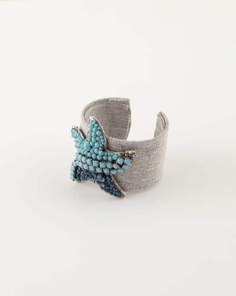 Bracciale schiava regolabile stella marina