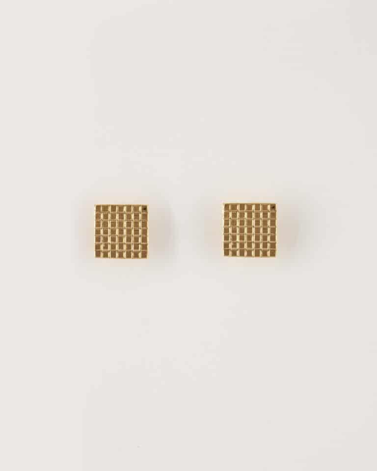 Orecchini bottone quadrato clip
