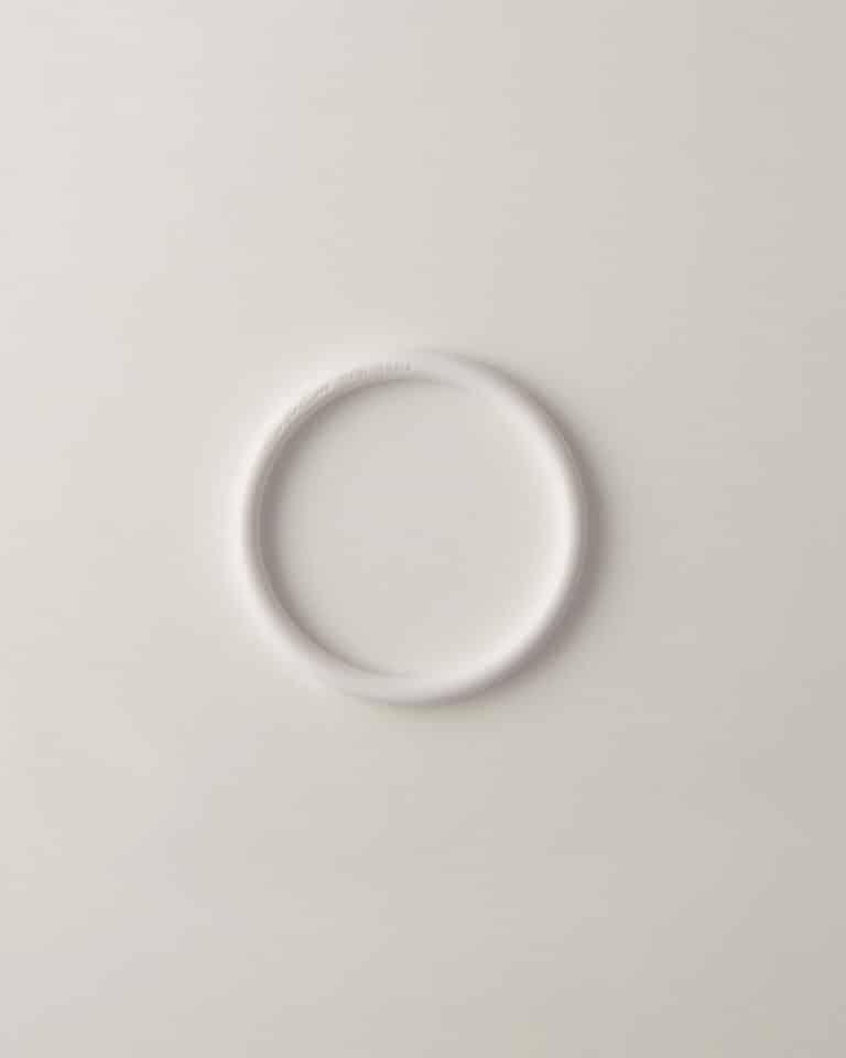 Bracciale Mini Bangle Resina Bianco