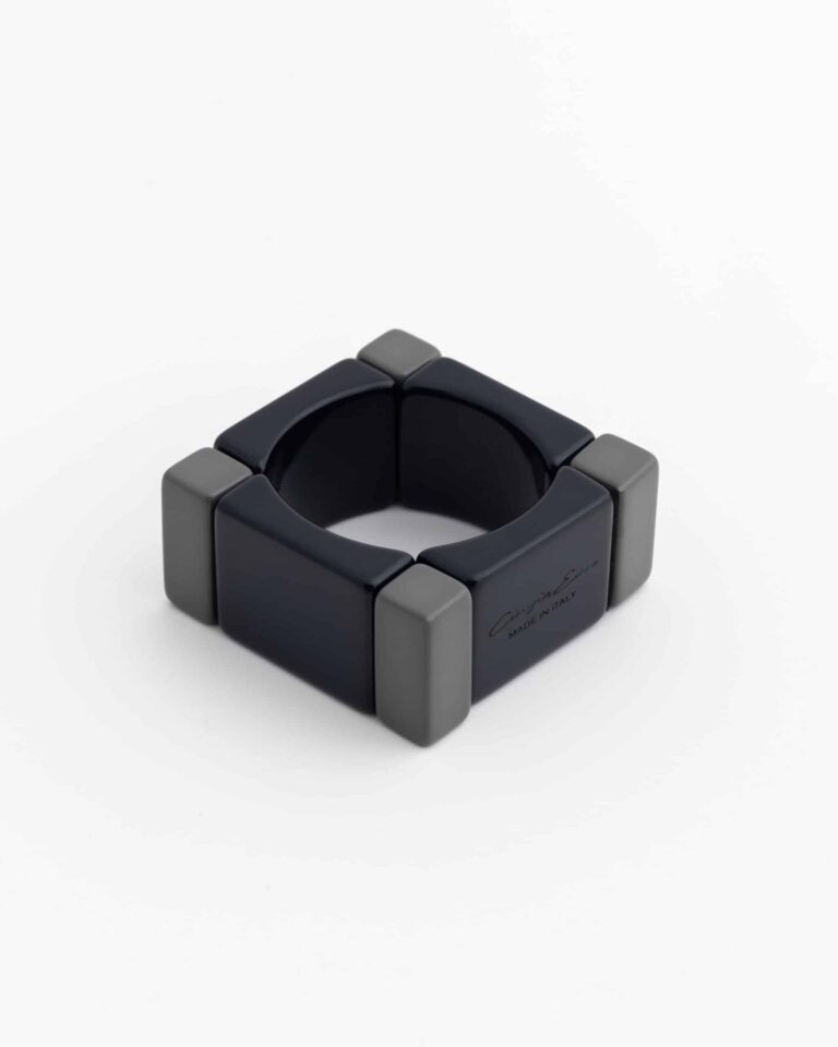 Bracciale Block Bangle Blu/Grigio